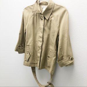 3/$20 Isaac Mizrahi Jacket. Tan. Large (5)